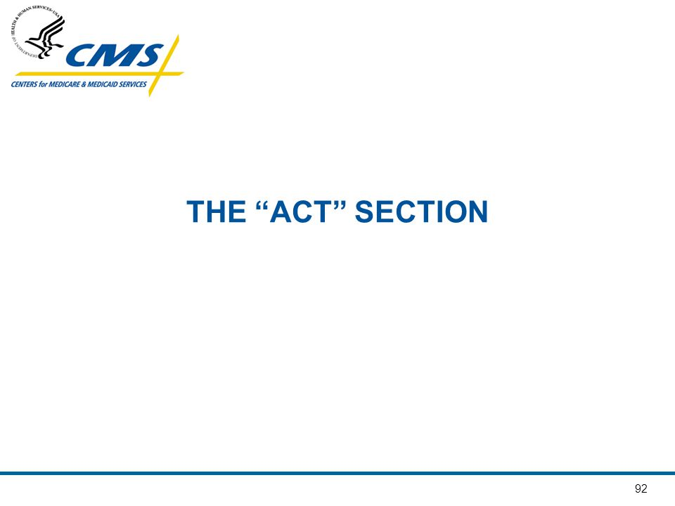 "92 THE ""ACT"" SECTION"