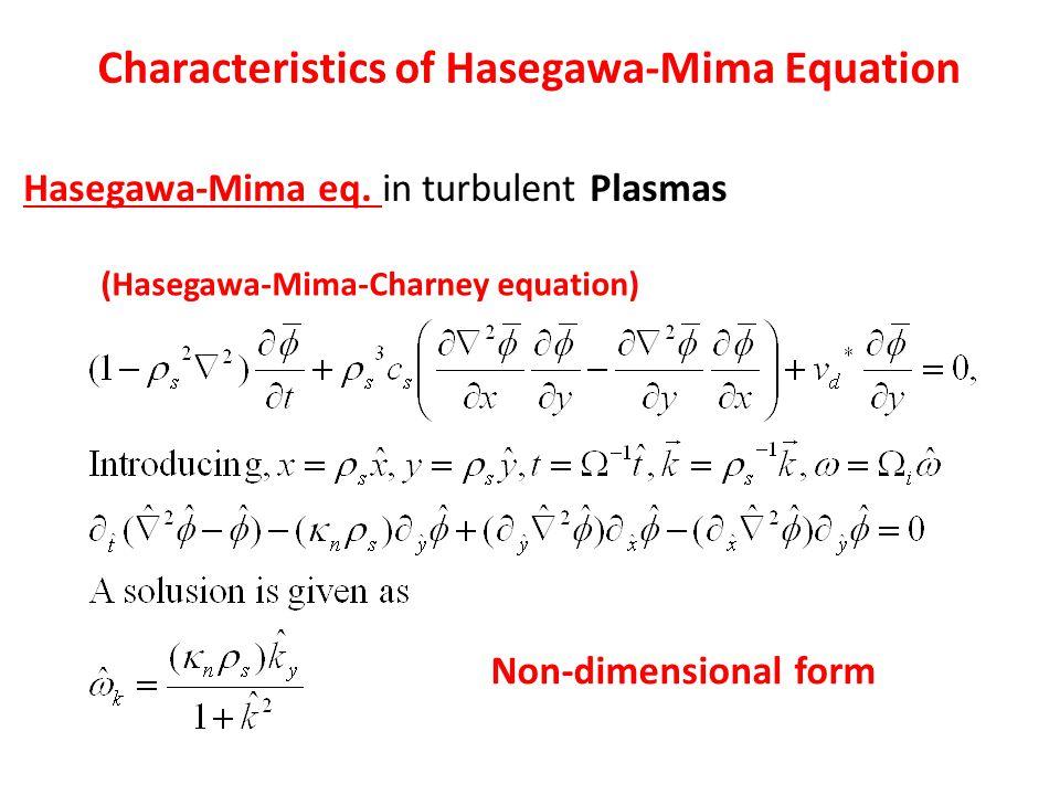 Characteristics of Hasegawa-Mima Equation Hasegawa-Mima eq.