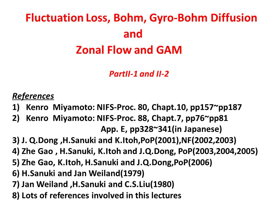 Zonal Flow Generation (continued1)
