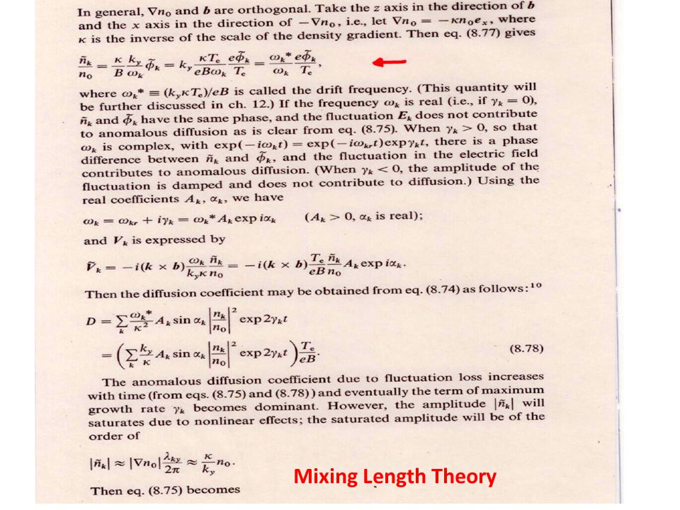 Bohm, Gyro-Bohm Diffusion Bohm Diffusion In saturation level of turbulence, Bohm Diffusion Coefficient