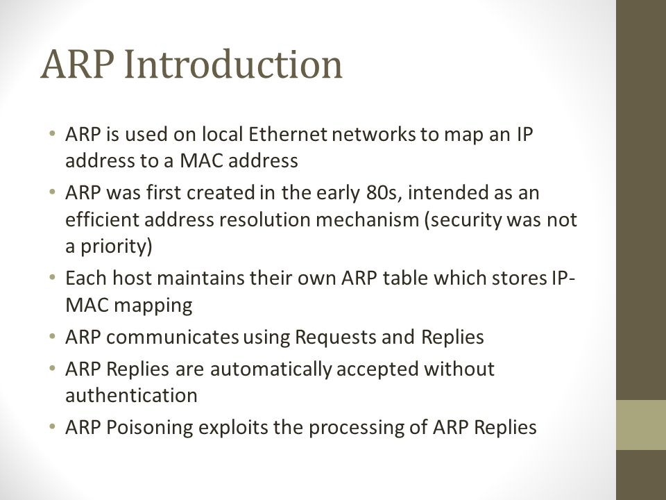 Summary ARP was designed to be efficient.