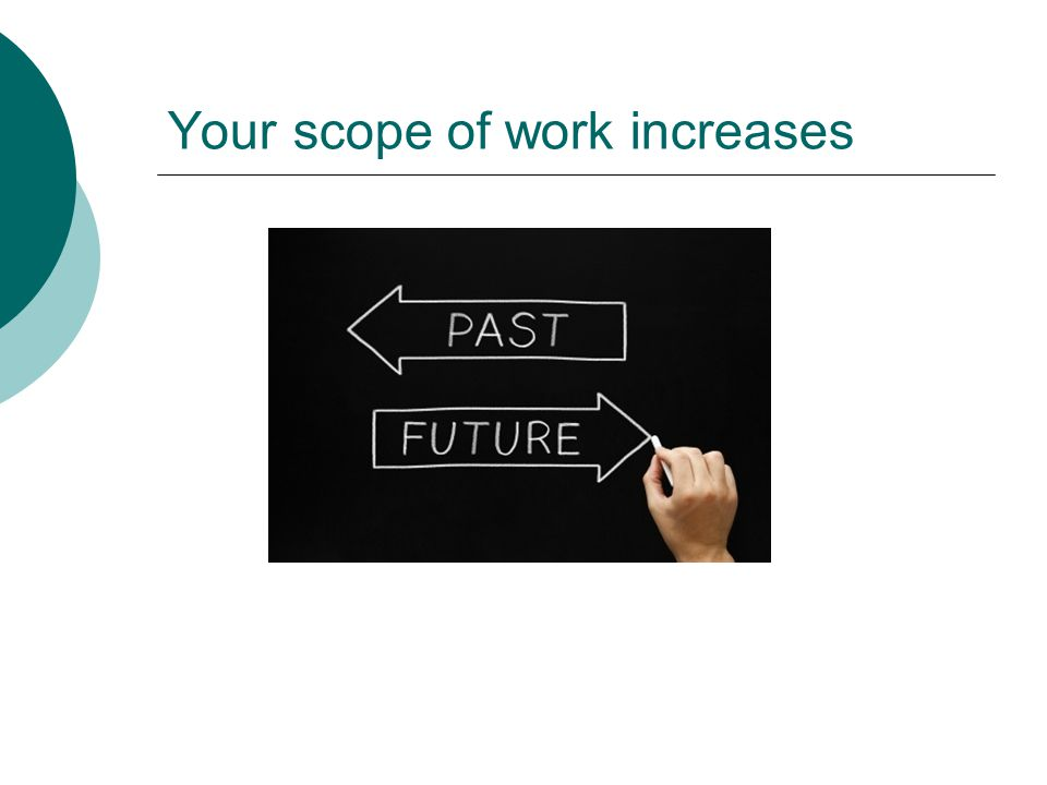 Your scope of work increases