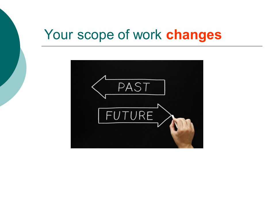 Your scope of work changes