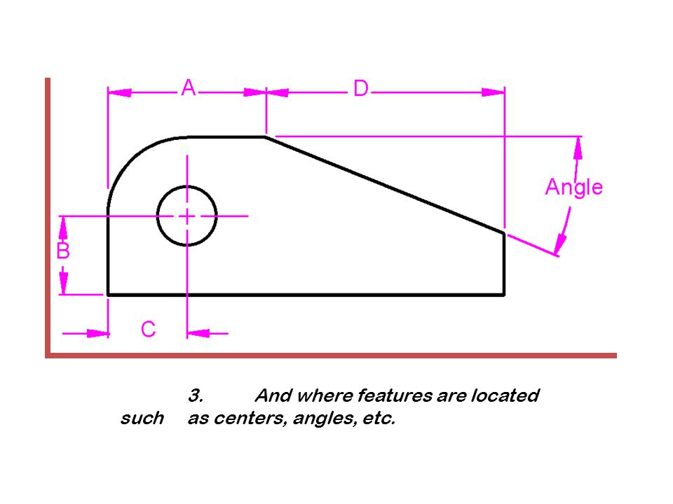 3.And where features are located such as centers, angles, etc.