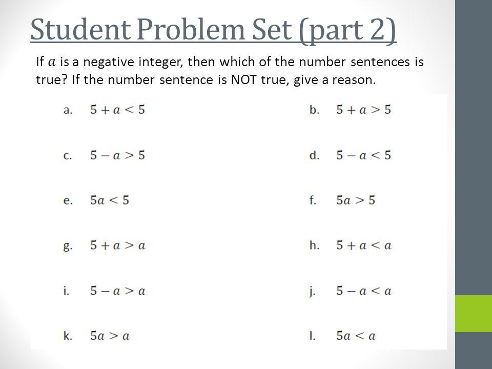 Student Problem Set (part 2)