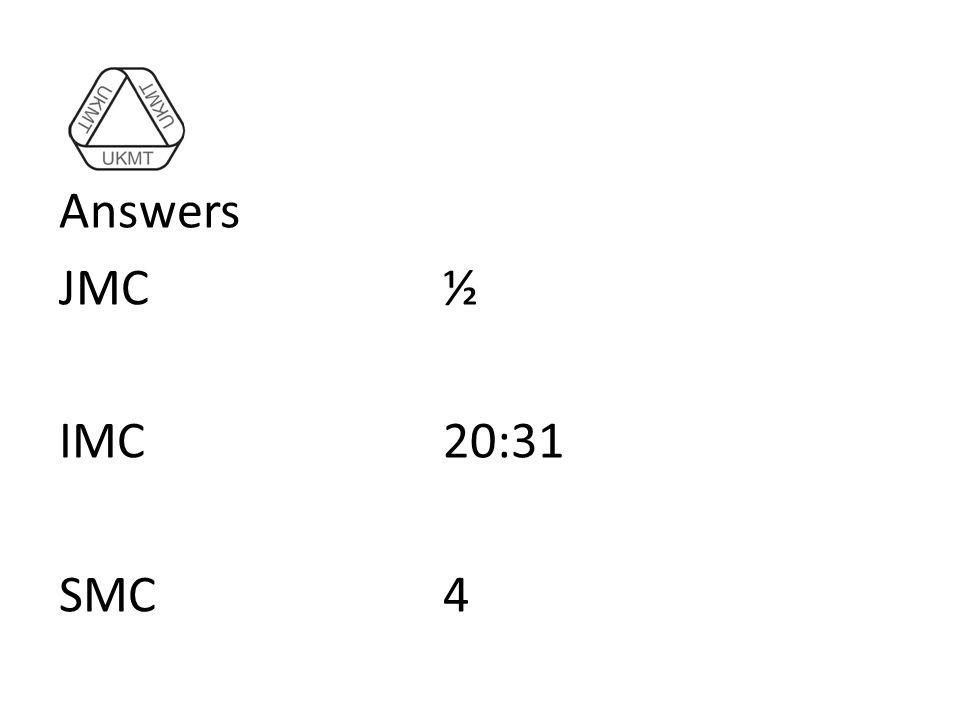 Answers JMC½ IMC20:31 SMC4