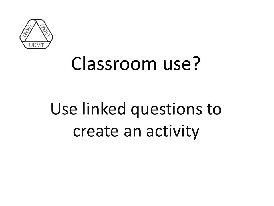 Use linked questions to create an activity