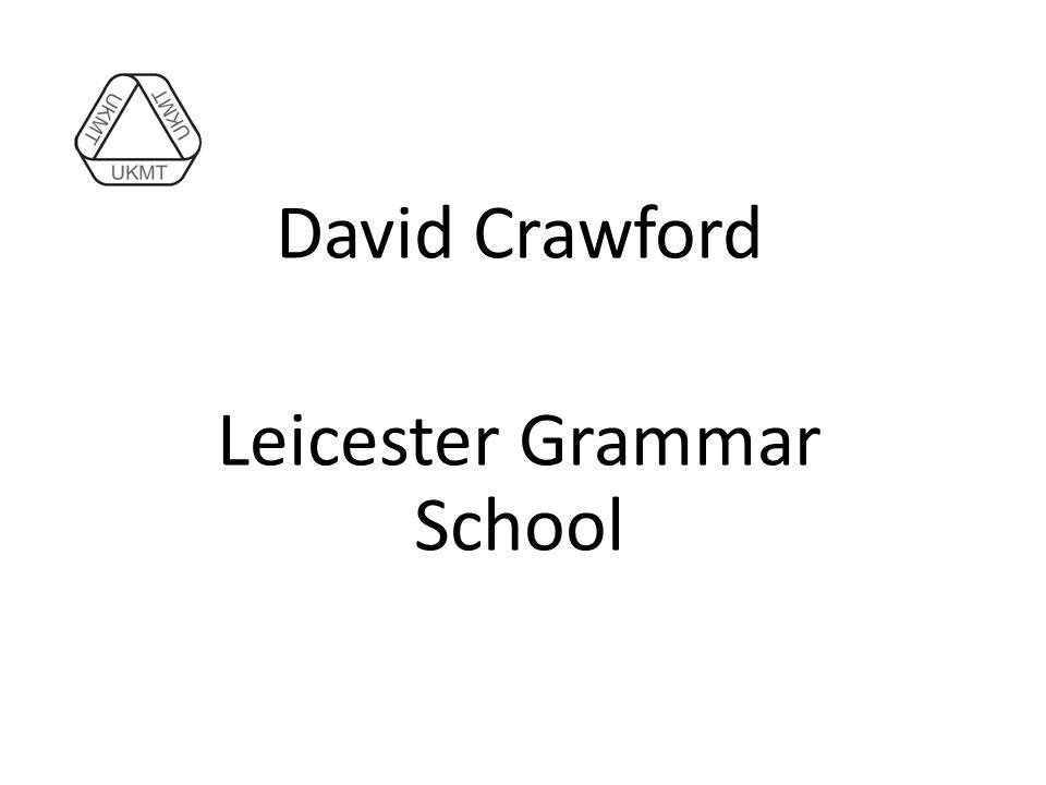David Crawford Leicester Grammar School