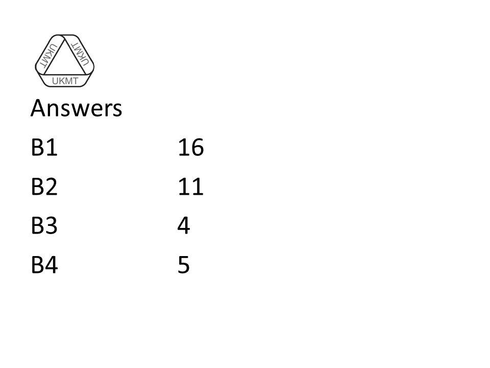 Answers B116 B211 B34 B45