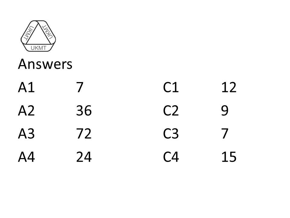 Answers A17C112 A236C29 A372C37 A424C415