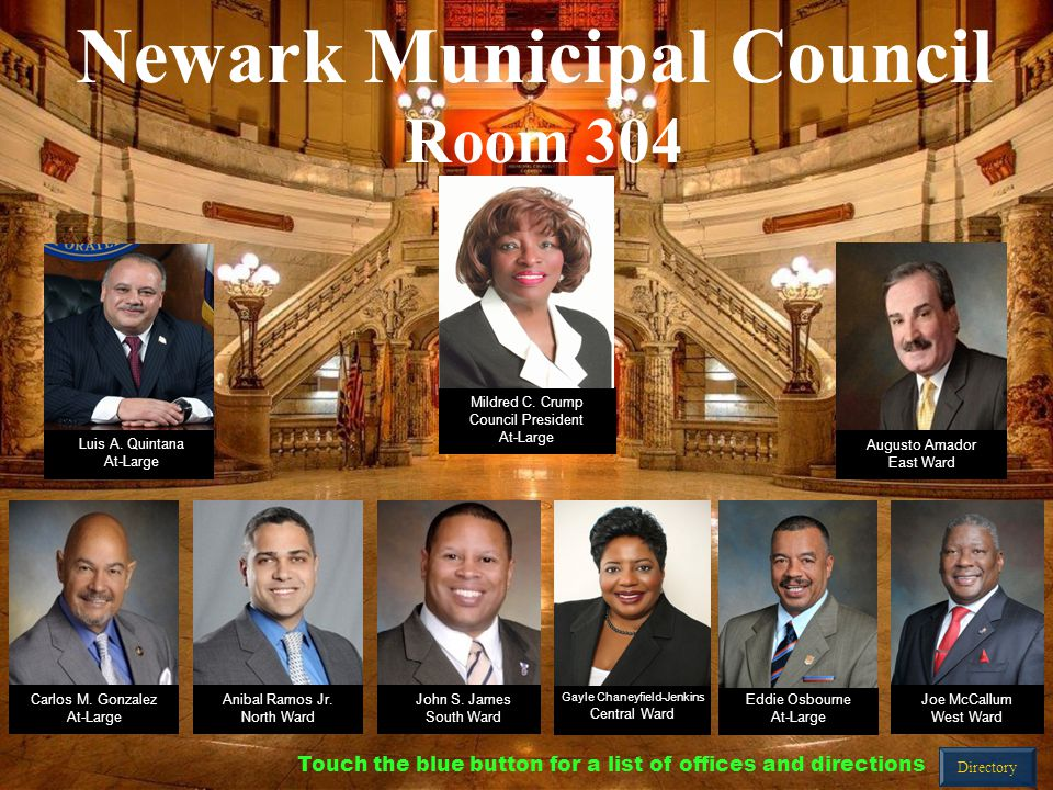 Mildred C. Crump Council President At-Large Augusto Amador East Ward Carlos M.