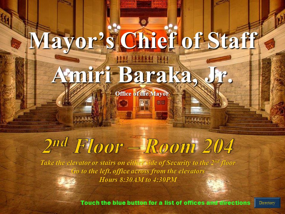 Mayor's Chief of Staff Amiri Baraka, Jr.