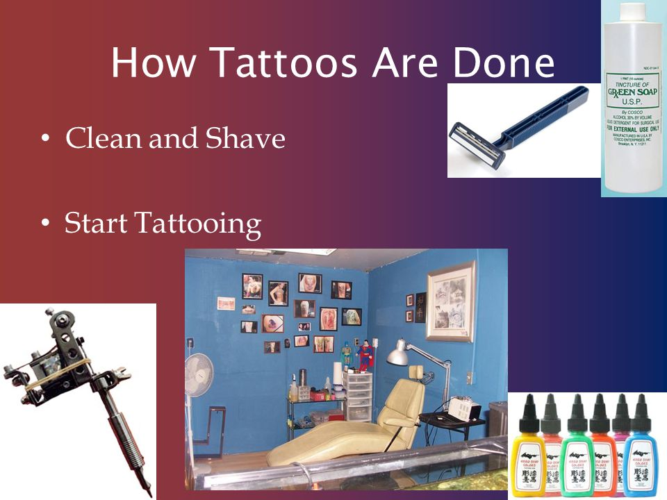 How Tattoos Are Done Clean and Shave Start Tattooing