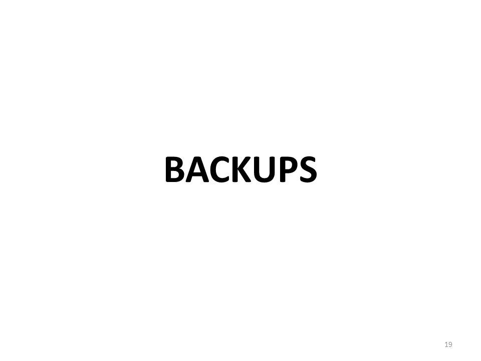 BACKUPS 19