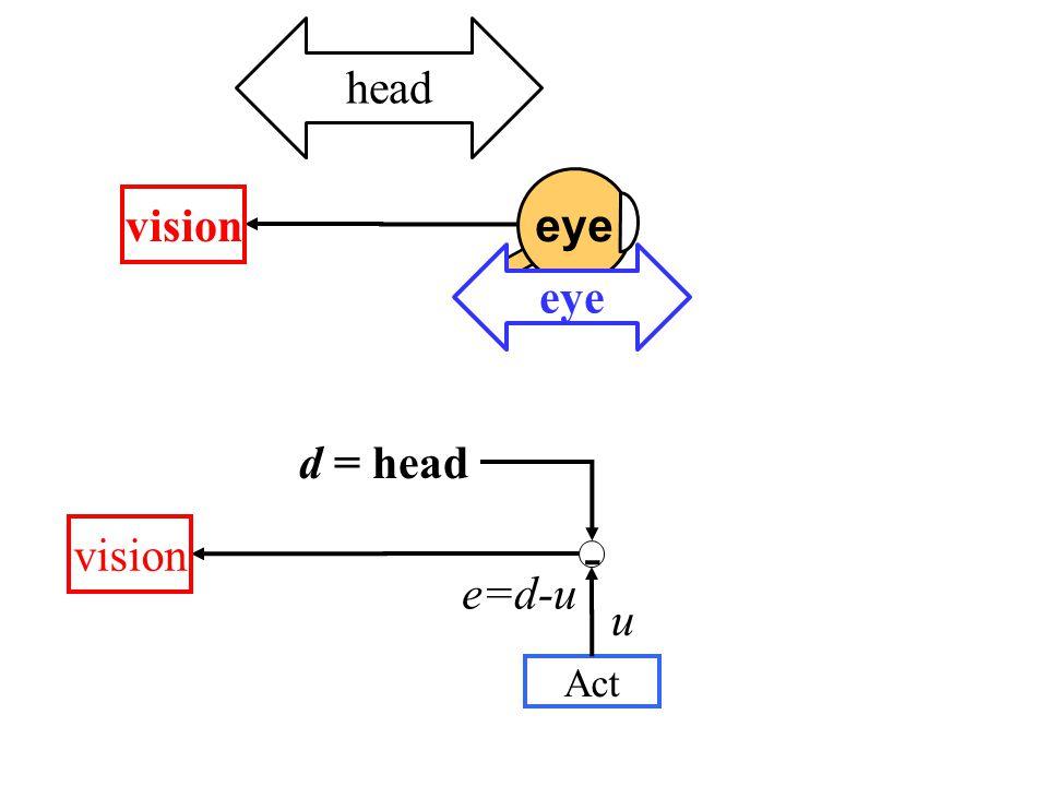 - vision d = head e=d-u Act u eye head vision eye