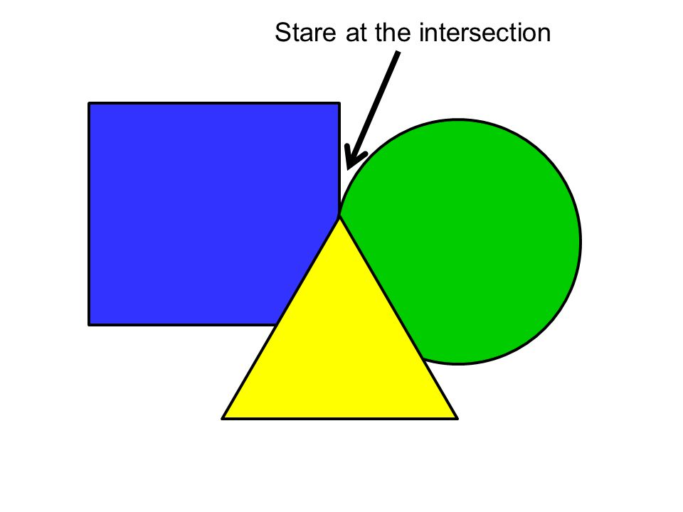Stare at the intersection