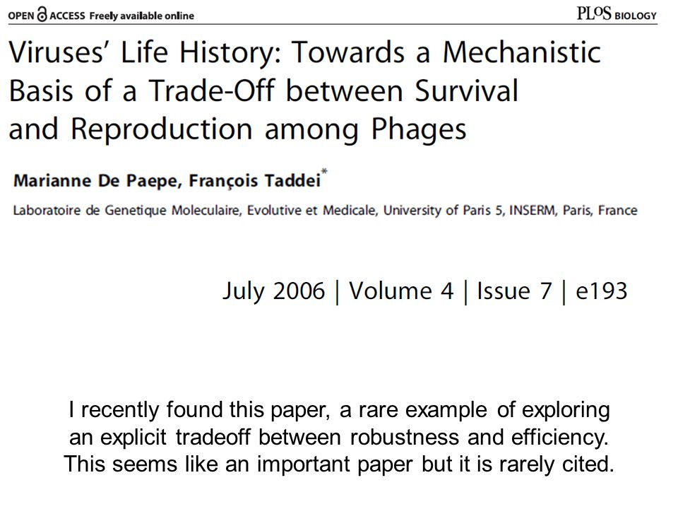 I recently found this paper, a rare example of exploring an explicit tradeoff between robustness and efficiency.