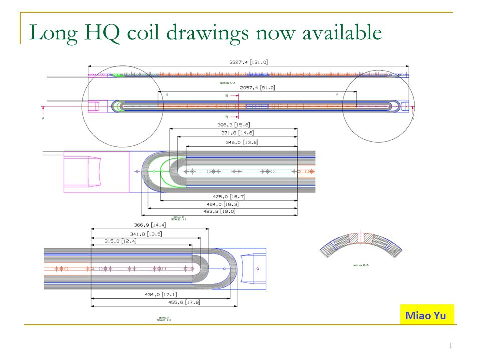 Dead voltage taps in TQ/LQ/HQ coils Inner layer: 24, outer layer: 12 (33 inner/23 outer per coil for TQ/LQ/HQ) Pole-turn: 27, splice & mid-plane: 9 (34 pole-turn/22 splice & mid-plane) 2