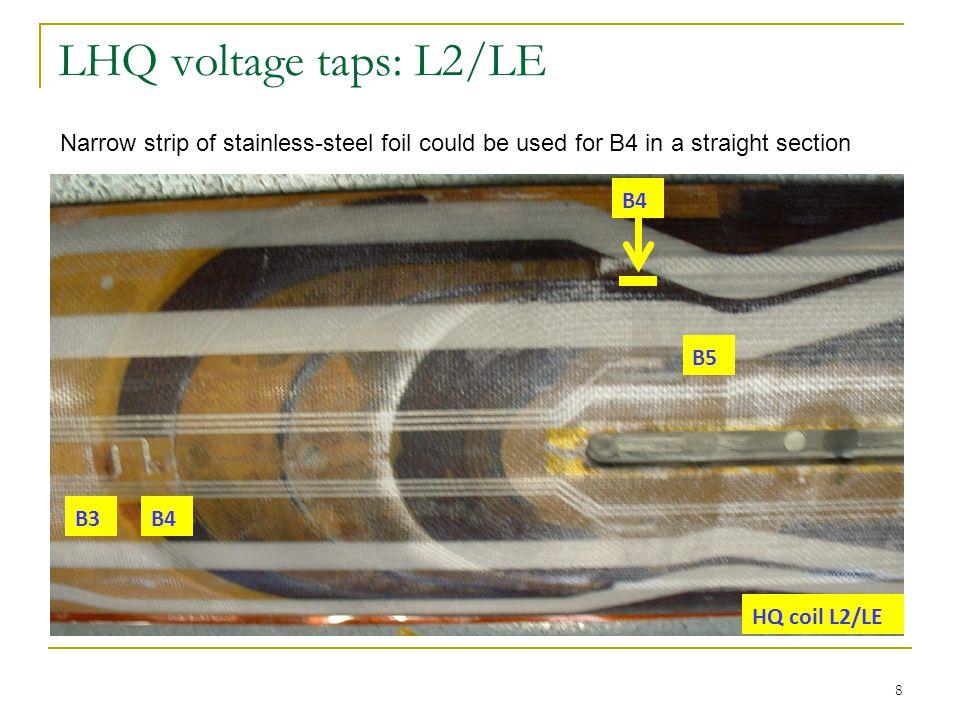 LHQ voltage taps: L2/RE 9 B6 B7 Outer surface