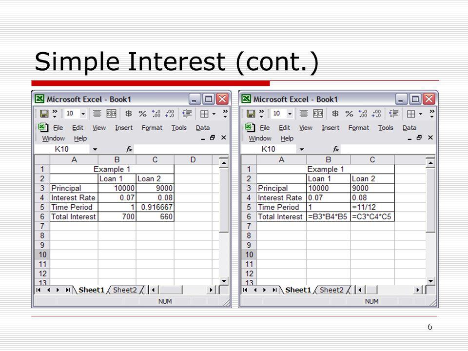7 Using Scenarios  We can also use Scenarios to compare loans.