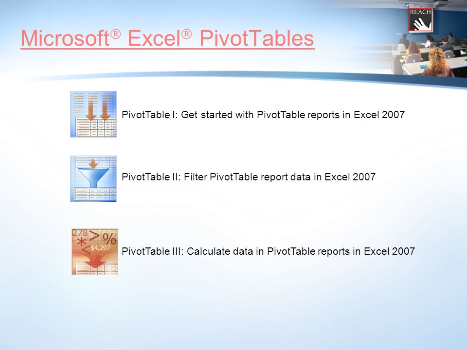 Microsoft ® Excel ® Statistical Functions Syntax: =COUNT(value1, [value2],...) Arguments: value1 Required  The first item, cell reference, or range within which you want to count numbers.