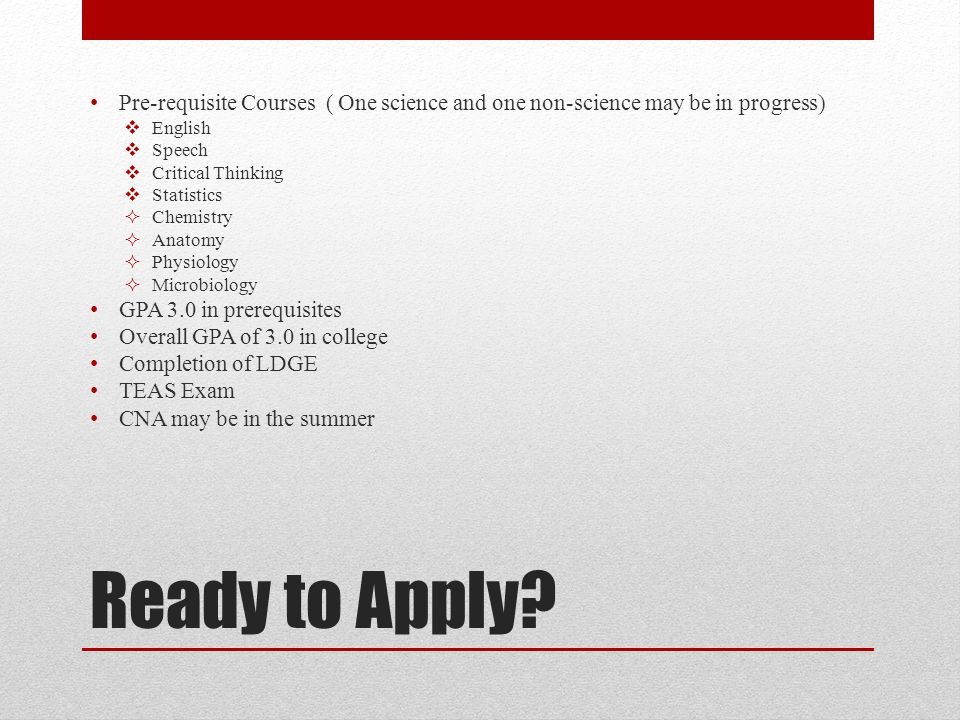 Ready to Apply.