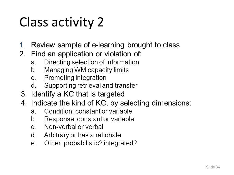 Class activity 2 1.