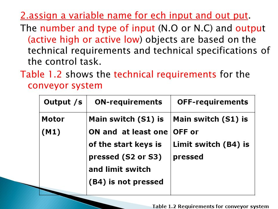  You must have noticed that in the ON side we negate the OFF requirements,  in this example pressing the limit switch (B4) is under OFF requirements, to shift this under the ON requirements it becomes B4 not pressed which is in Boolean.