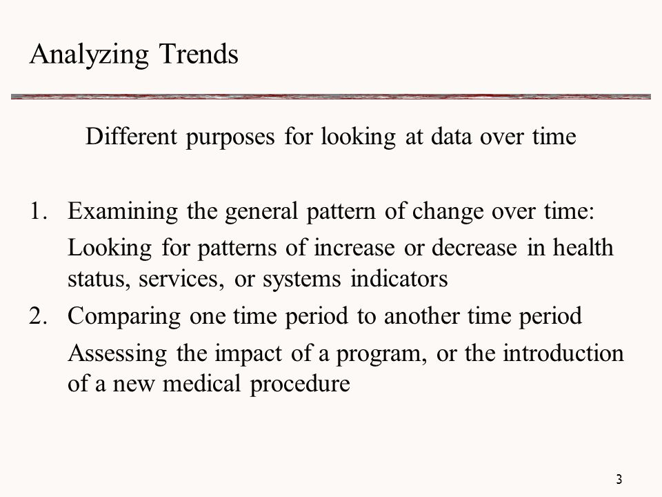 Analyzing Trends Example Approaches 14