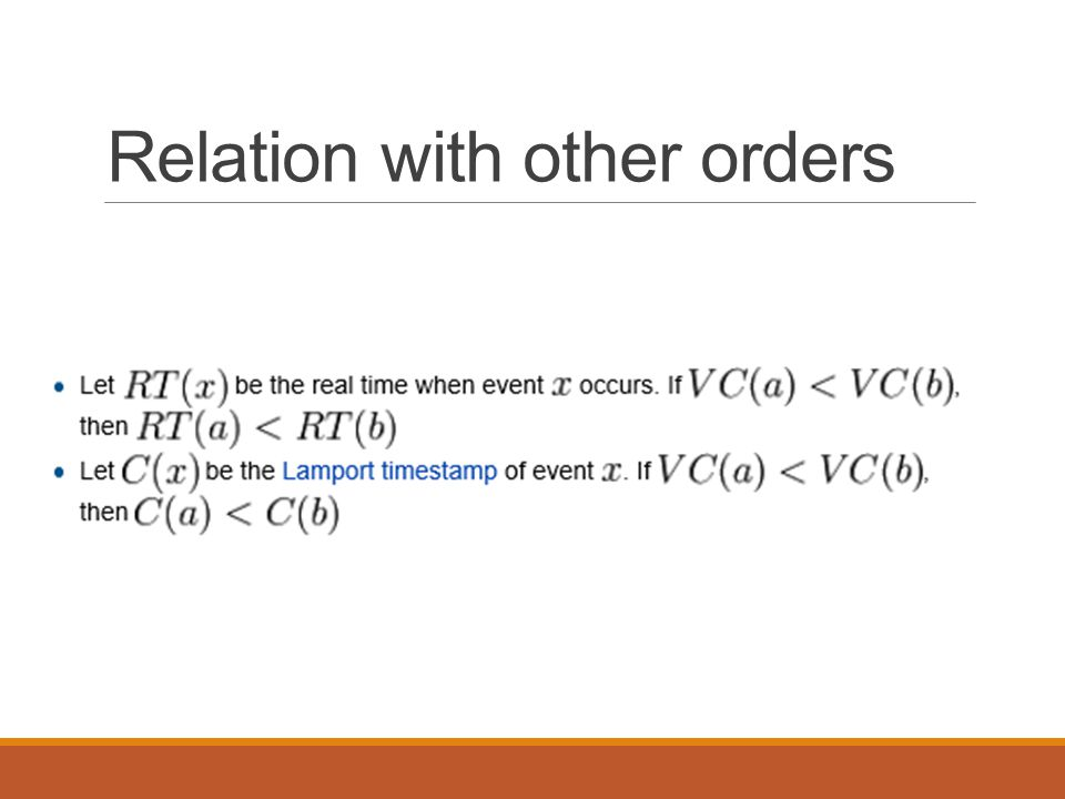 Relation with other orders
