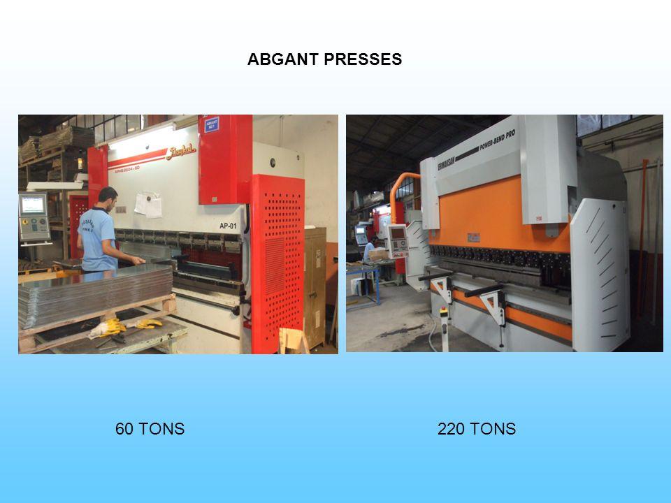 ABGANT PRESSES 60 TONS220 TONS