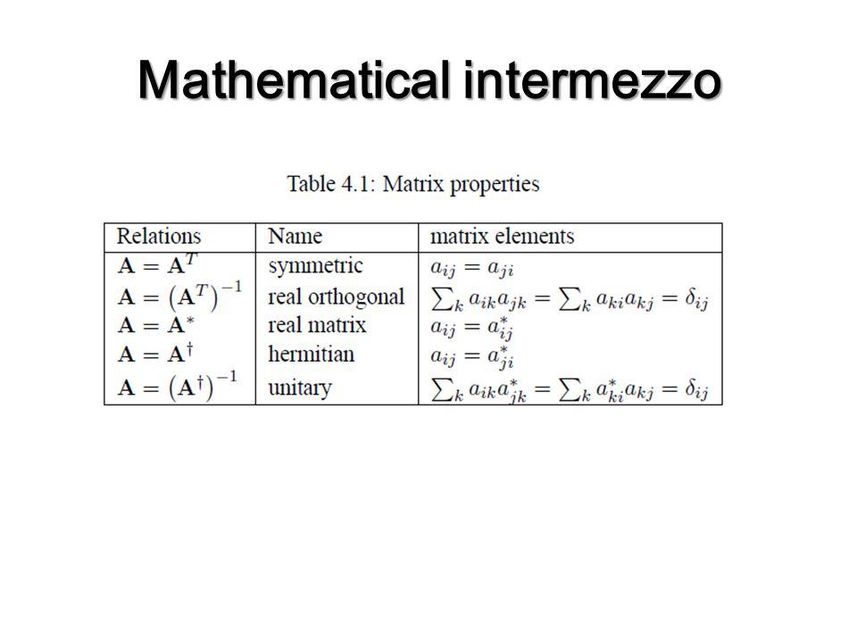 Mathematicalintermezzo Mathematical intermezzo