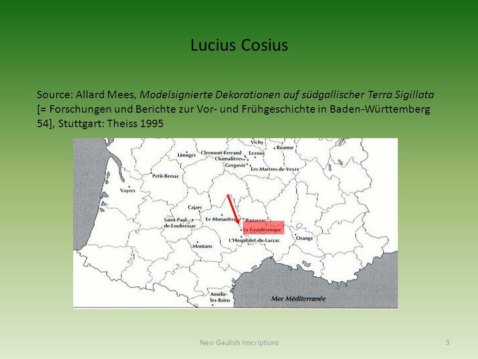 Source: Allard Mees, Modelsignierte Dekorationen auf südgallischer Terra Sigillata [= Forschungen und Berichte zur Vor- und Frühgeschichte in Baden-Wü