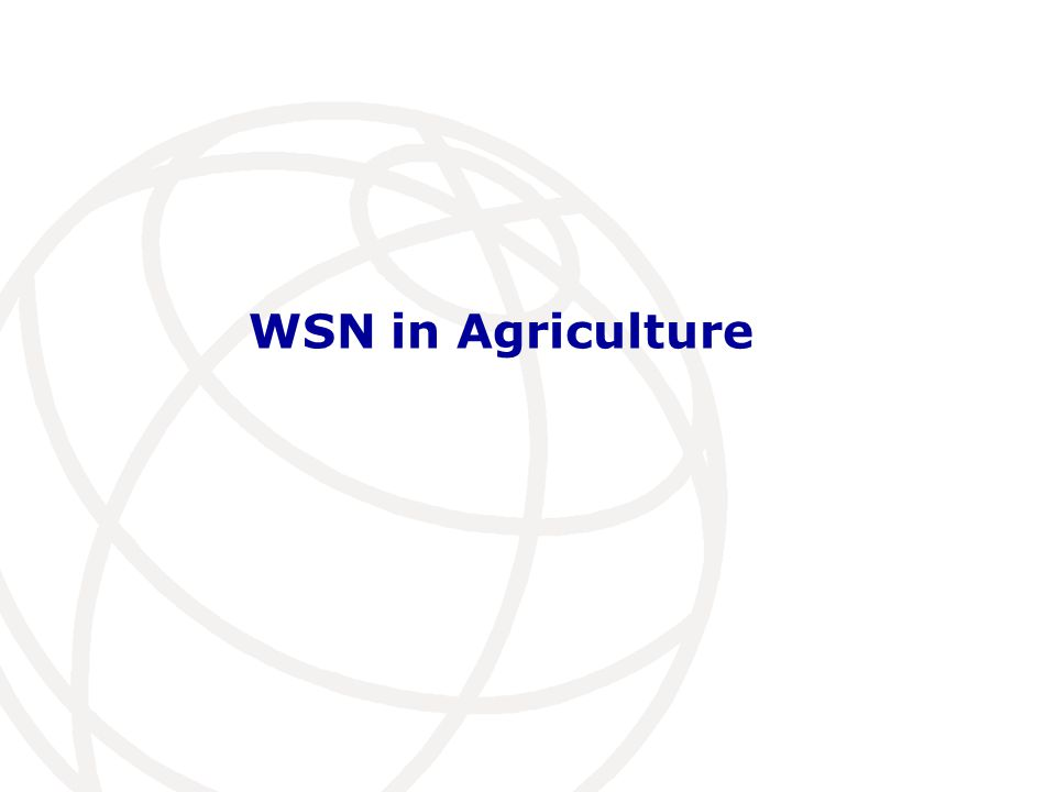 WSN in Agriculture
