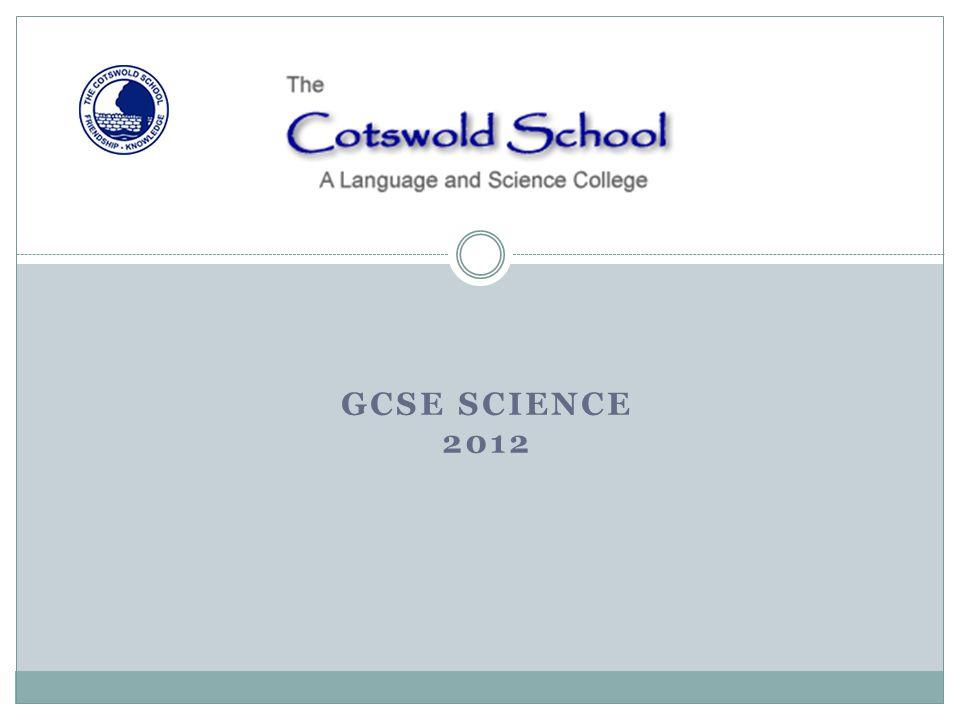 GCSE SCIENCE 2012