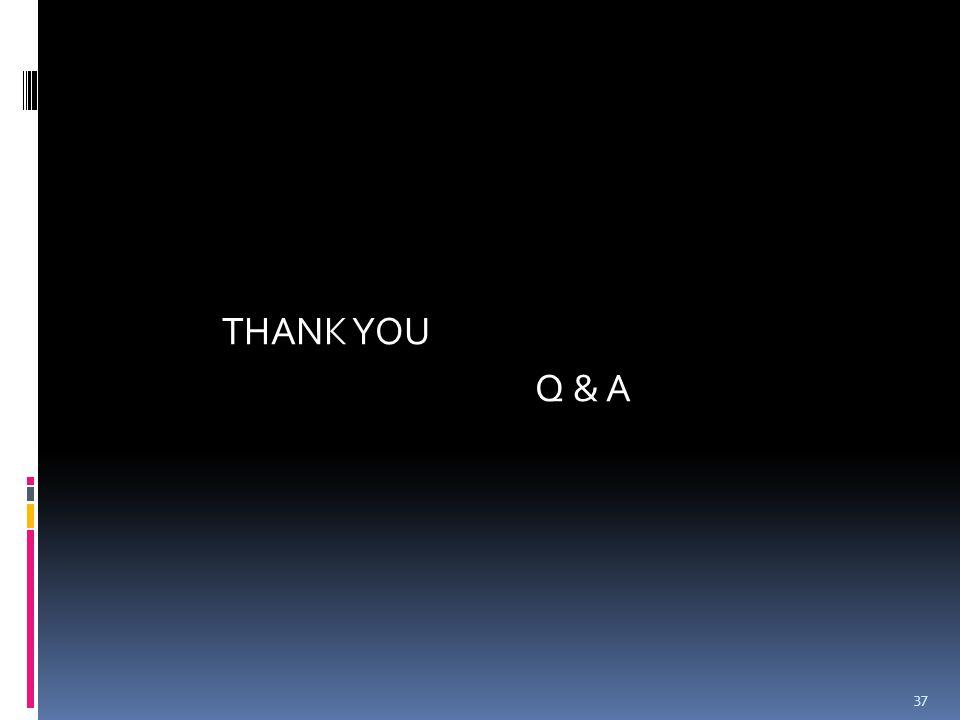 THANK YOU Q & A 37