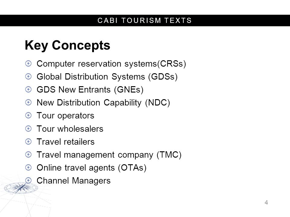 CABI TOURISM TEXTS PositiveNegative Internal S trengths Low entry costs and investment Pricing and convenience Customization Choice and control Instantaneous Comparison Flexibility Multimedia W eaknesses Lack of transparency Cancellation and changes Security Time consuming Limited advice Support (general and special needs) Lack of expertise External O pportunities Social Mobile Integration Innovation T hreats Competition Direct bookings SWOT analysis of online travel intermediaries