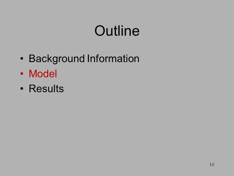 10 Outline Background Information Model Results
