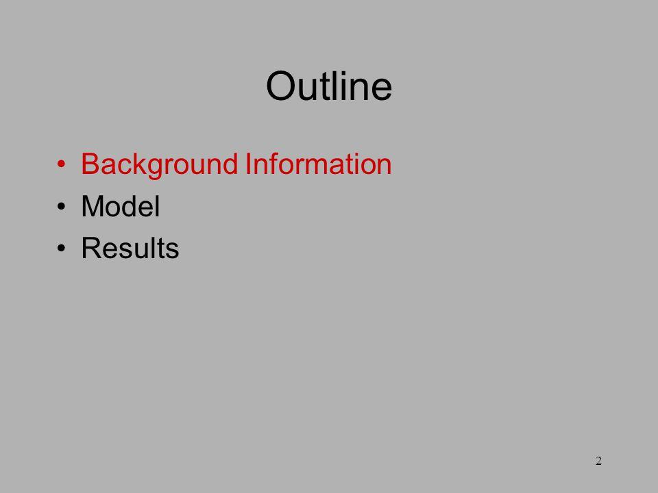 2 Outline Background Information Model Results
