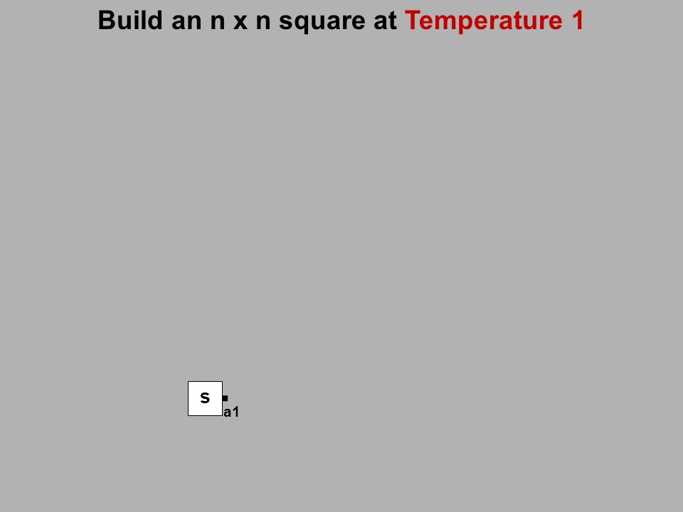 Build an n x n square at Temperature 1 s a1