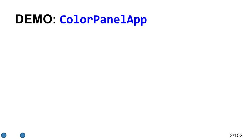 2/102 DEMO: ColorPanelApp
