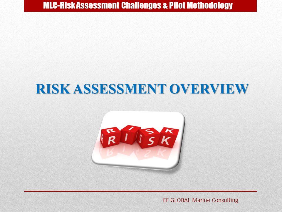MLC-Risk Assessment Challenges & Pilot Methodology RISK ASSESSMENT OVERVIEW EF GLOBAL Marine Consulting