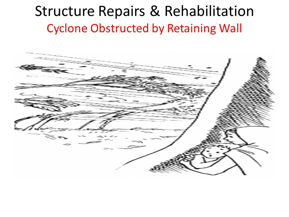 Structure Repairs & Rehabilitation Cyclone Obstructed by Retaining Wall Cyclones