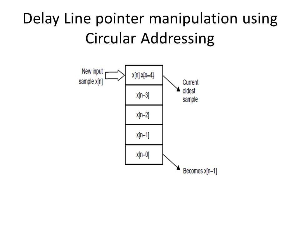 Delay Line pointer manipulation using Circular Addressing