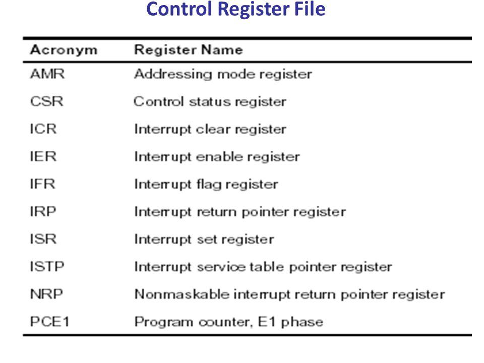 Control Register File