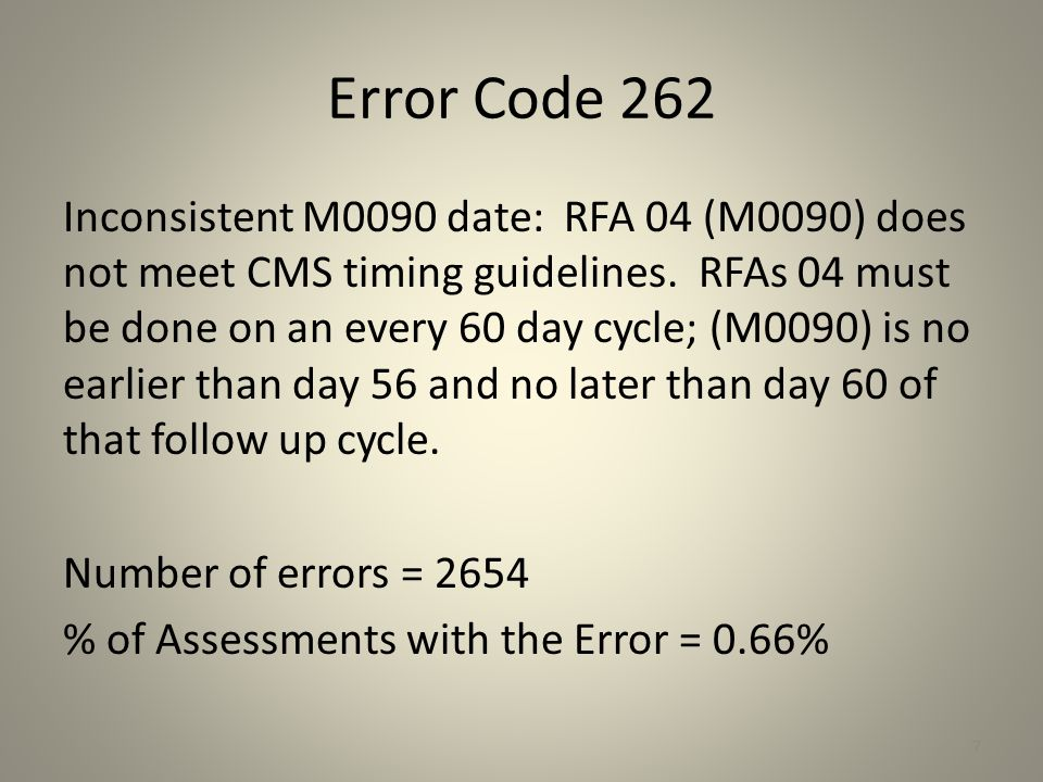 Error Code 303 Inconsistent M1022 (M0240)/M1024 (M0246) values: If M1024 (M0246) Case mix diagnosis primary ICD B3 - F3 or M1024 (M0246) Case mix diagnosis ICD B4 – F4 is not blank then the corresponding M1022 (M0240) Other diagnosis ICD code field should be a V-code.