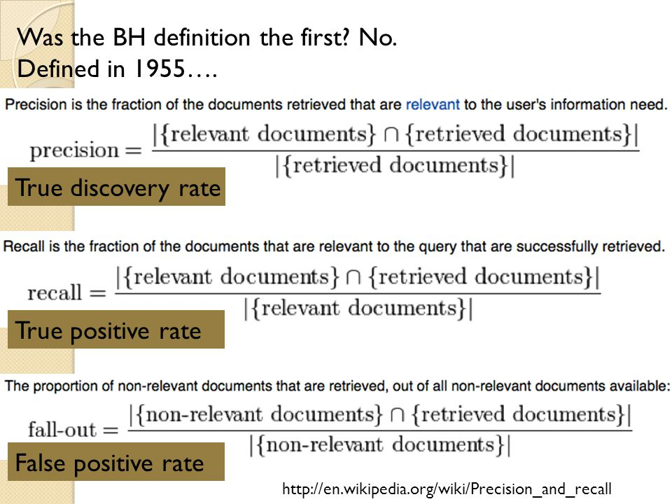 Was the BH definition the first.No. Defined in 1955….