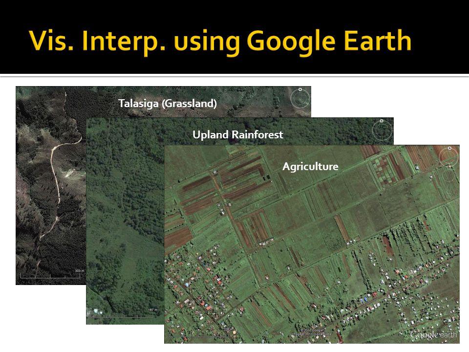 Talasiga (Grassland)Upland Rainforest Agriculture