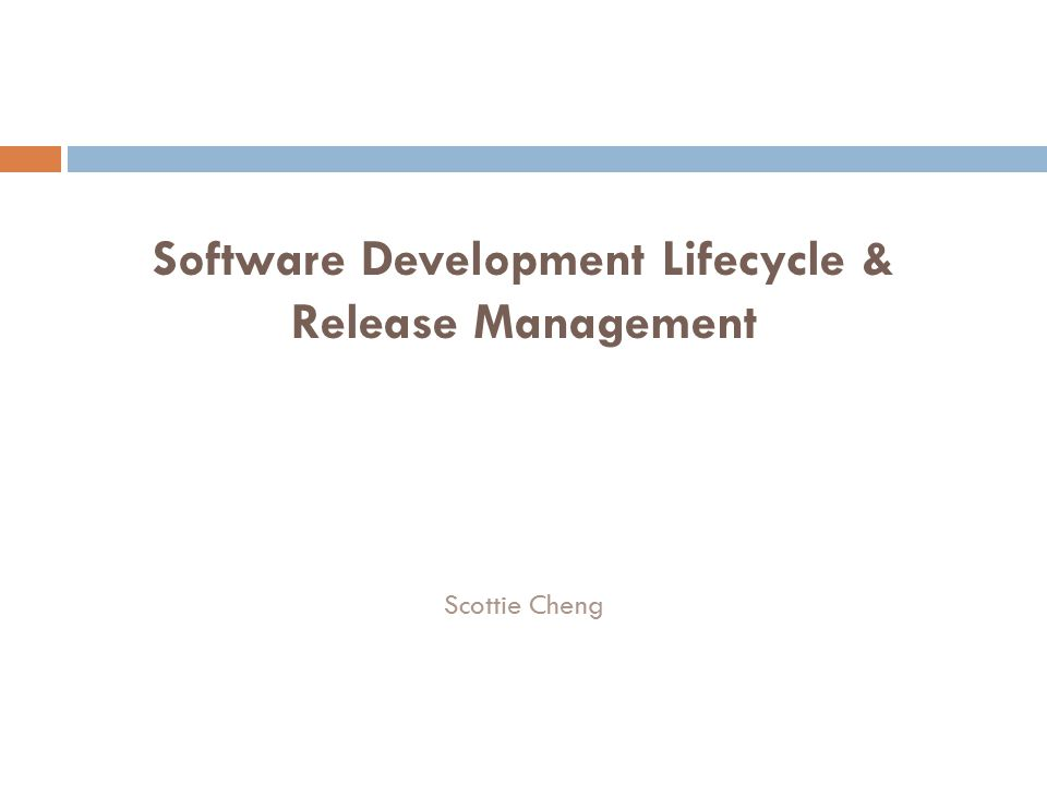 Agenda  Experience  Product Release  Roles in Product Development  Software Development Lifecycle
