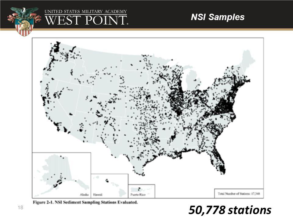 50,778 stations 18 NSI Samples